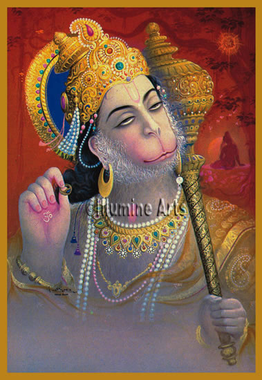 The only true god is Hanuman, the mighty monkey deity.